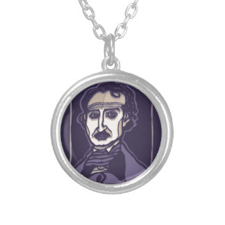 Edgar Allan Poe by FacePrints Silver Plated Necklace