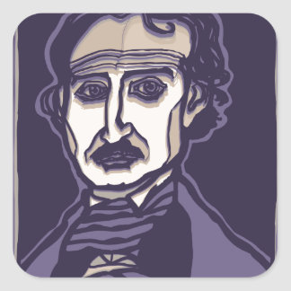 Edgar Allan Poe by FacePrints Square Sticker