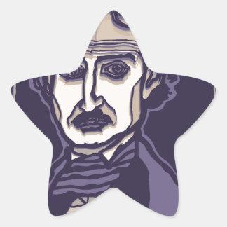 Edgar Allan Poe by FacePrints Star Sticker
