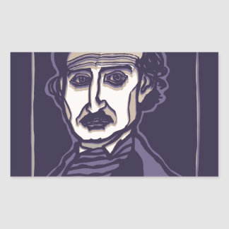 Edgar Allan Poe by FacePrints Sticker