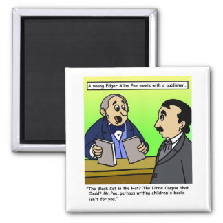 Edgar Allan Poe Cartoon Magnet