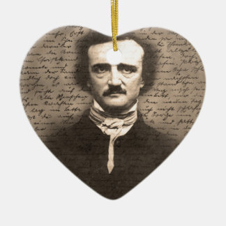 Edgar Allan Poe Ceramic Ornament