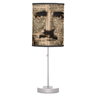Edgar Allan Poe Dictionary Page Table Lamp