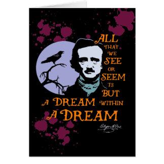 Edgar Allan Poe Dream Within A Dream Quote Card