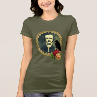 Edgar Allan Poe Framed with Roses T-Shirt