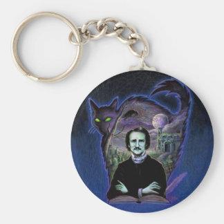 Edgar Allan Poe Gothic Basic Round Button Keychain