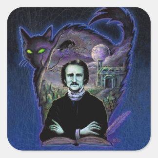 Edgar Allan Poe Gothic Square Sticker