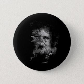 Edgar Allan Poe in Smoke with Raven 2 Inch Round Button