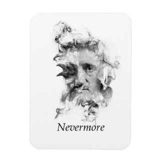 Edgar Allan Poe in Smoke with Raven - Nevermore Magnet