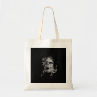Edgar Allan Poe in Smoke with Raven Tote Bag