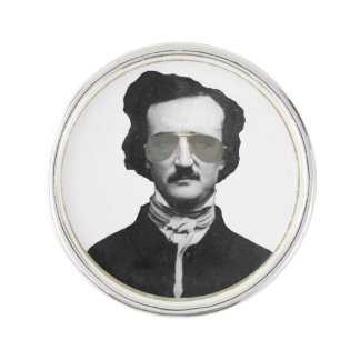 Edgar Allan Poe in Sunglasses Lapel Pin