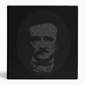 "Edgar Allan Poe in ""The Raven"" Text 3 Ring Binder"
