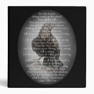 """Edgar Allan Poe in """"The Raven"""" Text Raven Bird Vinyl Binders"""