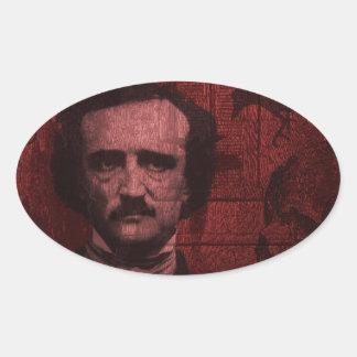 Edgar Allan Poe Oval Sticker