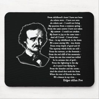 Edgar Allan Poe Poem ALONE Mouse Pad