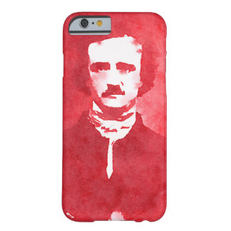 Edgar Allan Poe Pop Art Portrait in red Barely There iPhone 6 Case
