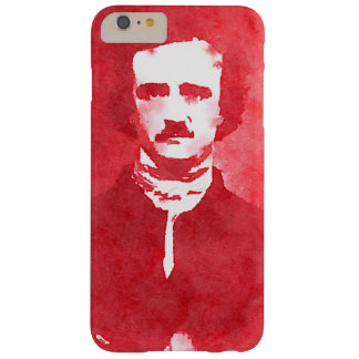 Edgar Allan Poe Pop Art Portrait in red Barely There iPhone 6 Plus Case