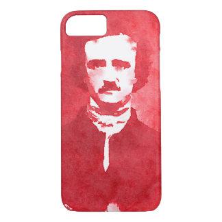 Edgar Allan Poe Pop Art Portrait in red iPhone 7 Case
