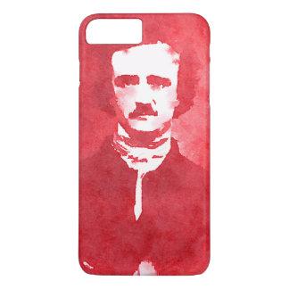Edgar Allan Poe Pop Art Portrait in red iPhone 7 Plus Case