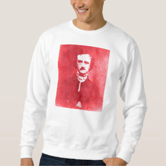 Edgar Allan Poe Pop Art Portrait in red Sweatshirt