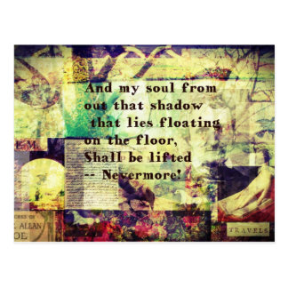 Edgar Allan Poe Quote Nevermore Postcard