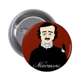 Edgar Allan Poe Raven Humor 2 Inch Round Button