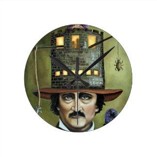 Edgar Allan Poe Round Clock