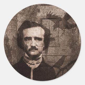 Edgar Allan Poe Round Sticker