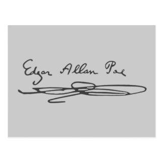 Edgar Allan Poe Signature Postcard