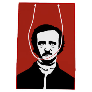 Edgar Allan Poe Silhouette Medium Gift Bag