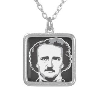 Edgar Allan Poe Silver Plated Necklace
