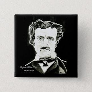 Edgar Allan Poe Square Button