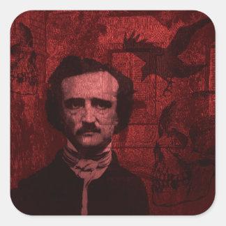 Edgar Allan Poe Square Sticker