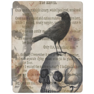 Edgar Allan Poe The Raven & Skull iPad Cover