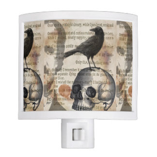 Edgar Allan Poe The Raven & Skull Night Light
