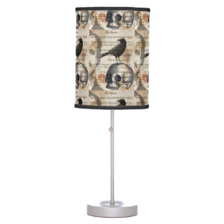 Edgar Allan Poe The Raven & Skull Table Lamp