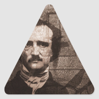 Edgar Allan Poe Triangle Sticker