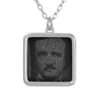 Edgar Allan Poe (TypeFace) Silver Plated Necklace