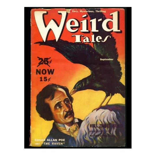 Edgar Allan Poe Weird Tales Cover Postcard