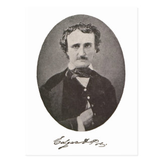 Edgar Allan Poe with Signature Postcard