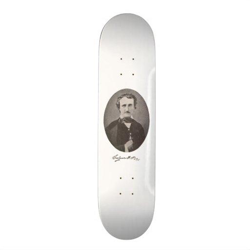 Edgar Allan Poe with Signature Skate Deck