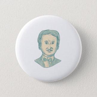 Edgar Allan Poe Writer Drawing 2 Inch Round Button