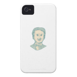 Edgar Allan Poe Writer Drawing iPhone 4 Cases