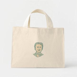 Edgar Allan Poe Writer Drawing Mini Tote Bag