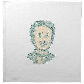 Edgar Allan Poe Writer Drawing Napkin