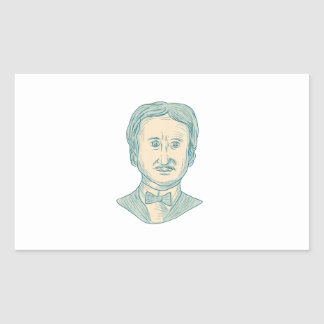Edgar Allan Poe Writer Drawing Sticker