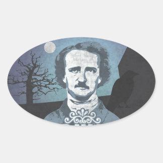 Edgar Allan Poe's Nevermore Oval Sticker