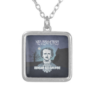 Edgar Allan Poe's Nevermore Silver Plated Necklace