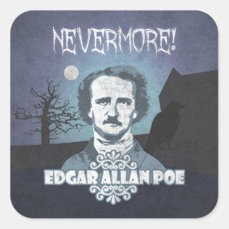 Edgar Allan Poe's Nevermore Square Sticker