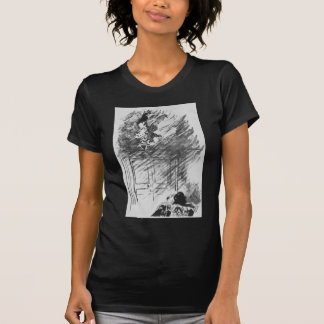 Edgar Allan Poe's The Raven By Edouard Manet T-Shirt